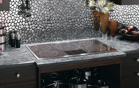 magentic induction cooktop in the Bill Vandegrift showroom