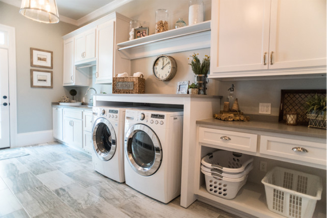 White washer and dryer combo in a Doylestown home